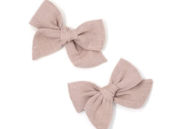 Mini Pinwheel Pigtails - Rosehip (1pc)