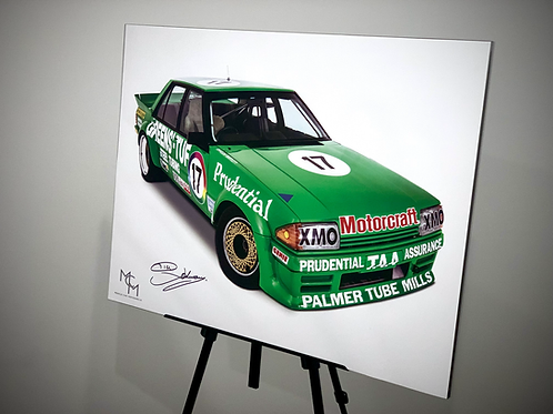 SIGNED by Dick Johnson 1983 Ford XE - Greens-Tuf