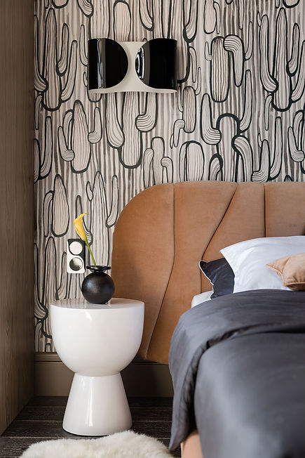 Sunday12 Interior design project Textural Boom bedroom apartment Jack House Kyiv