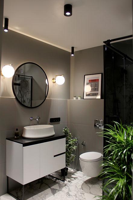 Sunday12 Interior design project city chic bathroom Kvartet Kyiv