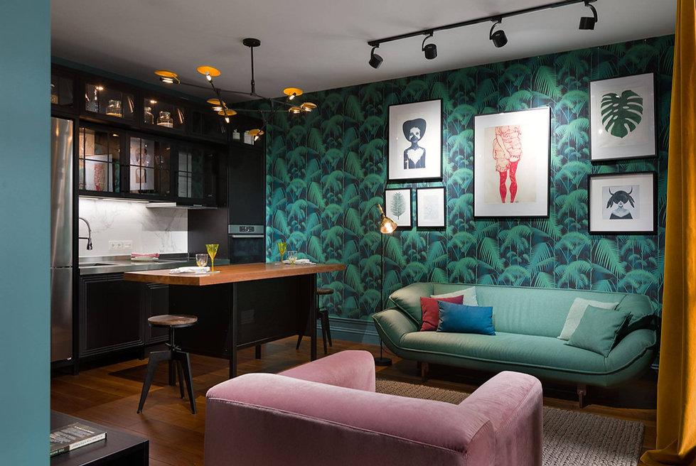 Sunday12 Interior дизайн проект квартира апартаменты all we need is green Киев Central park