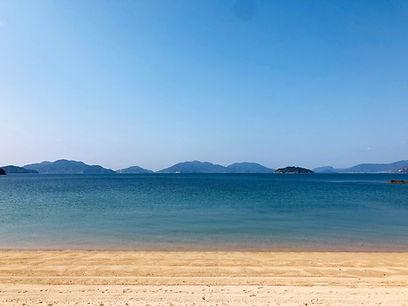 大崎上島大串のビーチから見える瀬戸内海
