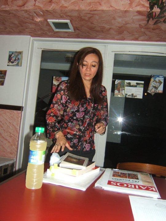 Marcela Rivero durante una amena clase en el bufette del IBBA