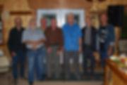 Soirée de présentation du film X... Y... Z... le 21 septembre 2013, soit 43 ans après le tournage, à la salle Les Promenades d'antan, Saint-Basile. De g. à d.: Guy Leclerc, Claude Trudel, Michel Béland, Robert Bédard, Raymond Dion, Denis Fiset et Alain Dion
