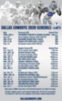 Dallas Cowboys 2020-2021 Football Schedu