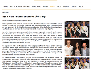 Miss und Mister ÖO Casting in Regau