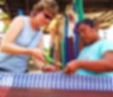 Weaving Hammocks Ek Balam Eco Hotel Yucatan