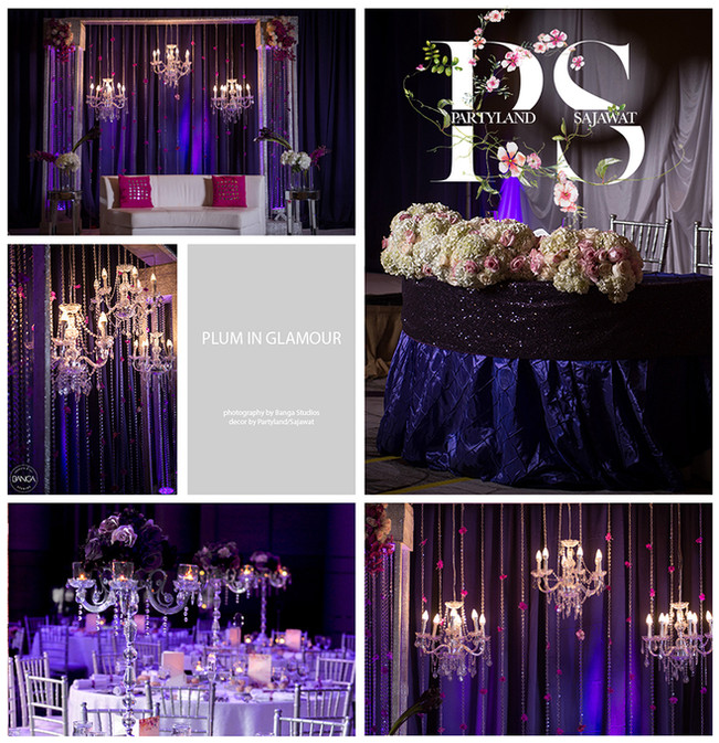 1 PartylandSajawat - Plum Wedding Decor.