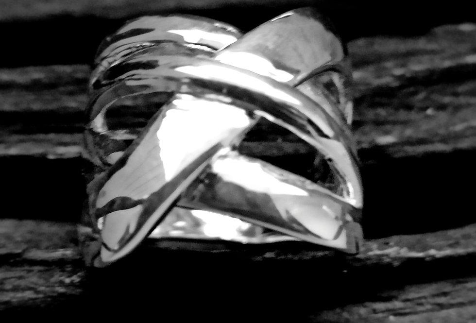 Flettet sølvring