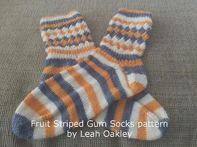 Fruit Striped Gum socks using New Tradit