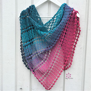 Droplets Crochet shawl