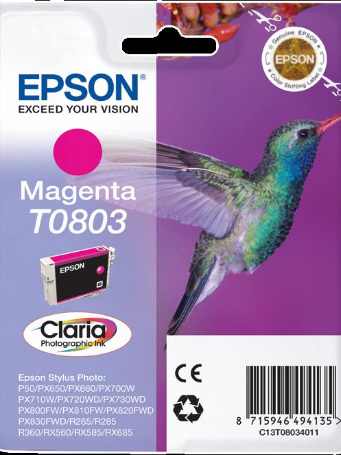 CARTUCCIA EPSON T0803 MAGENTA