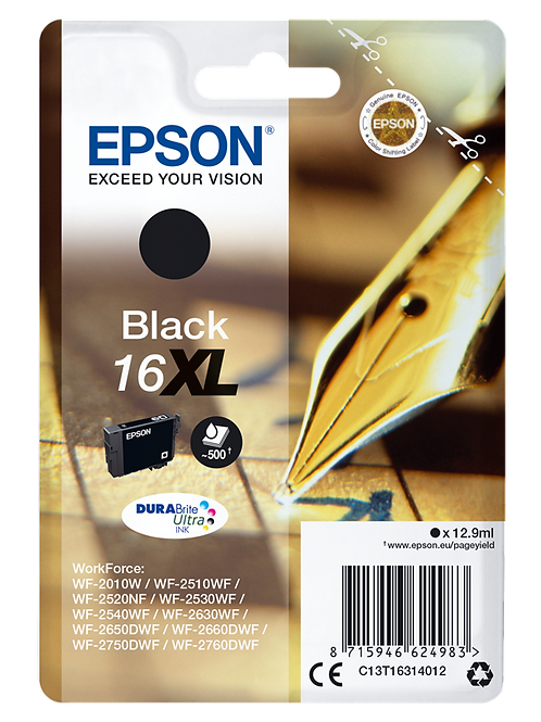 CARTUCCIA DI INCHIOSTRO EPSON NERO 16XL 12,9 ml