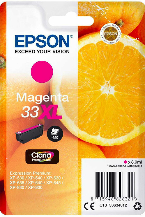 CARTUCCIA DI INCHIOSTRO EPSON MAGENTA 33XL 8,9 ml