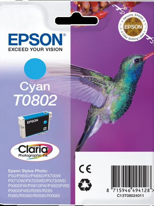 CARTUCCIA EPSON T0802 CIANO