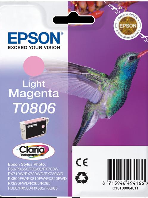 CARTUCCIA EPSON T0806 LIGHT MAGENTA