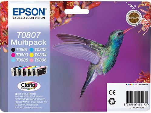 CARTUCCE EPSON T0807 KIT 6 CARTUCCE