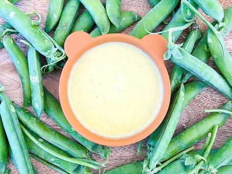 Peas-ricotta babypasta