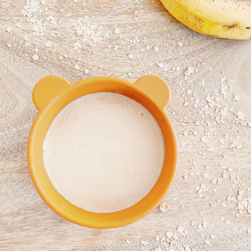 Banana-oat yogurt