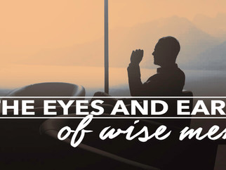 THE EYES AND EARS OF WISE MEN