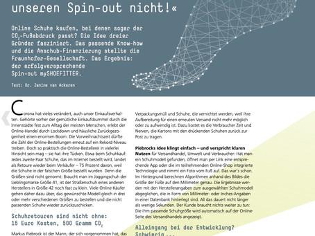 We are featured on the new Fraunhofer Magazin weiter.vorn 4/2020 🚀