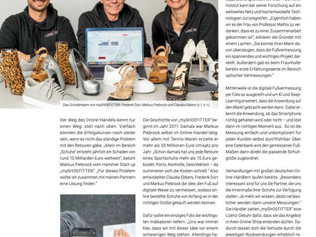 """We are featured in the new """"Wirtschaft Inform"""" magazine 🚀"""