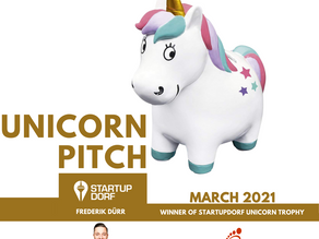 We won the Unicorn Trophy of Startup Dorf e.V. 🚀