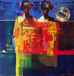 African Women at Full Moon