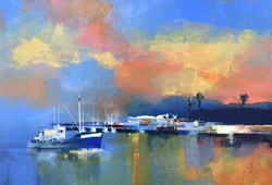 Harbour Lights - Kalk Bay evening (840x600 mm)