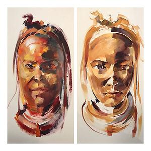 Acrylic & Watercolour - example Himba Woman portrait - Workshop.jpeg