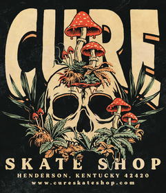 Cure - Skull - Black - Artwork