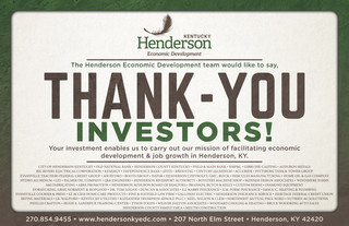 HED Investors Thank-You - Half Page