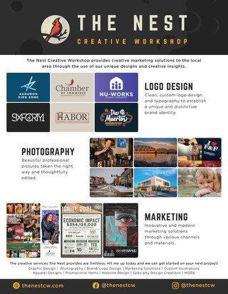 The Nest: Creative Workshop Flyer