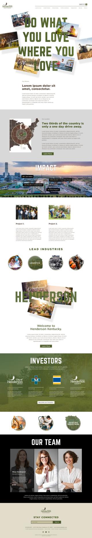 Mock HED Website