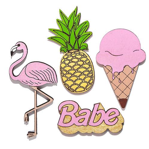 Фламинго + Ананас + Мороженое + Babe