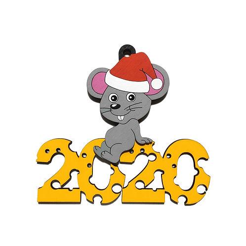 Символ нового года елочная игрушка - Крыса 2020