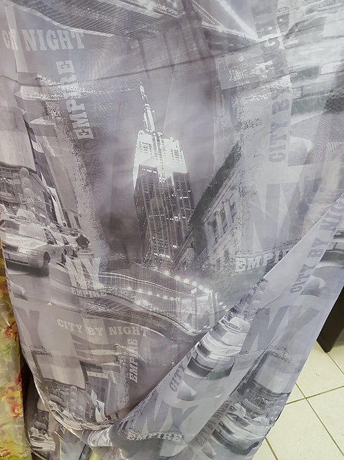 """Вуаль печать """"город"""""""