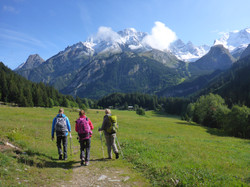 Hiking the French Alps in a group