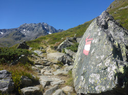 Signage on hiking tour in Austria