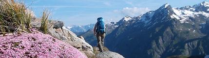 Hiker on the Tour du Mont Blanc Alternative route