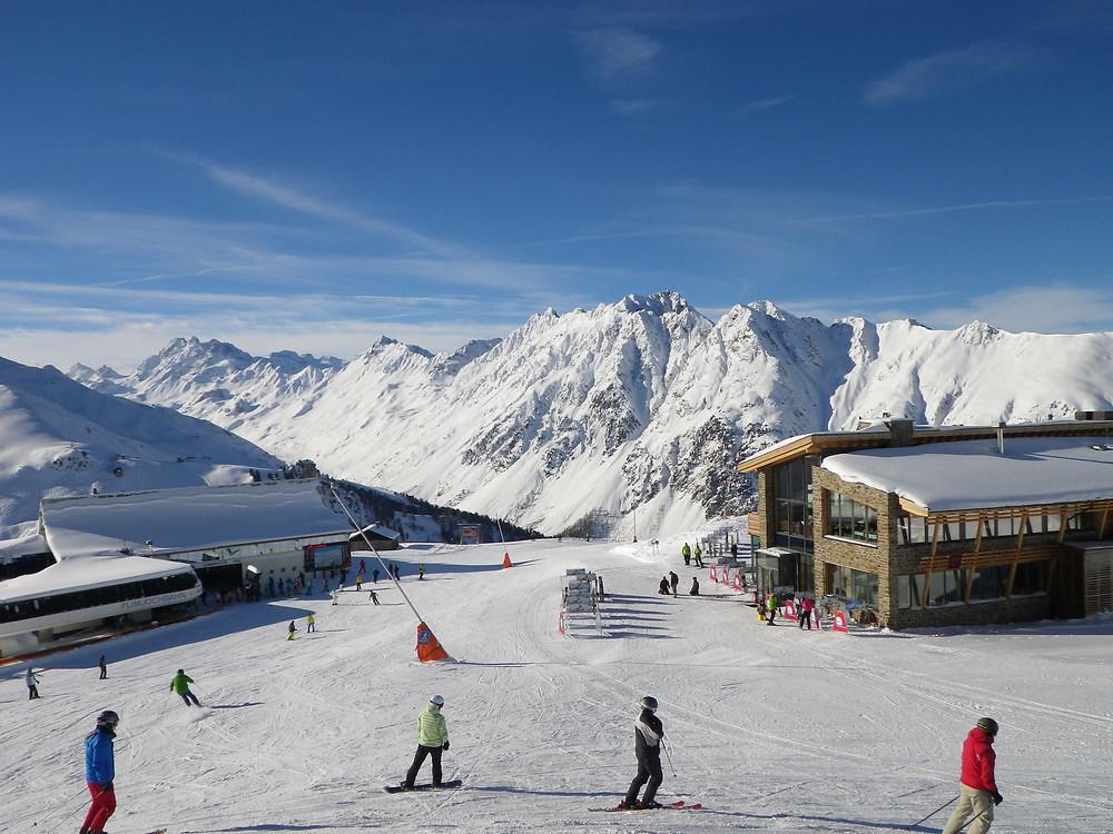 Views from the Ischgl ski resort