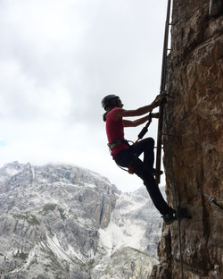 Dolomites via ferrata