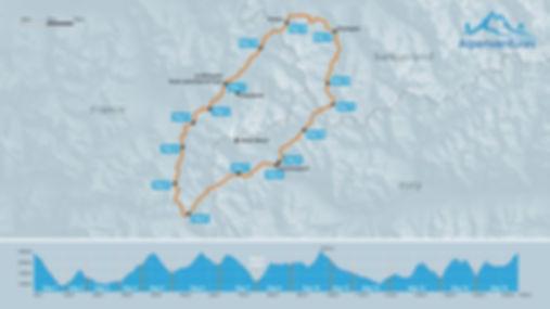 Tour du Mont Blanc in 15 days map