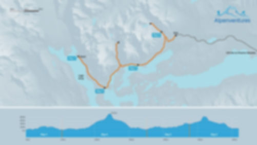 W-Trek route and elevation profile