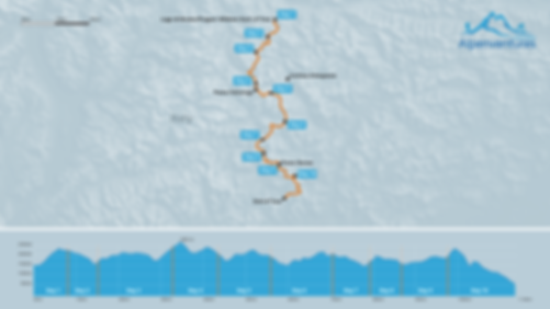 Alta Via 1 Map and Elevation Profile