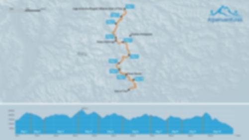 Alta Via 1 elevation profile and map