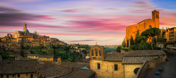 Umbria Bicycle Tour with sunset