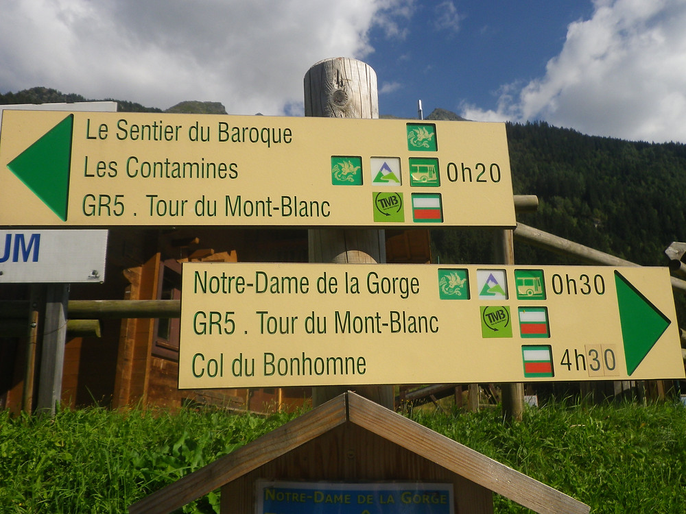 Signs of Tour du Mont Blanc