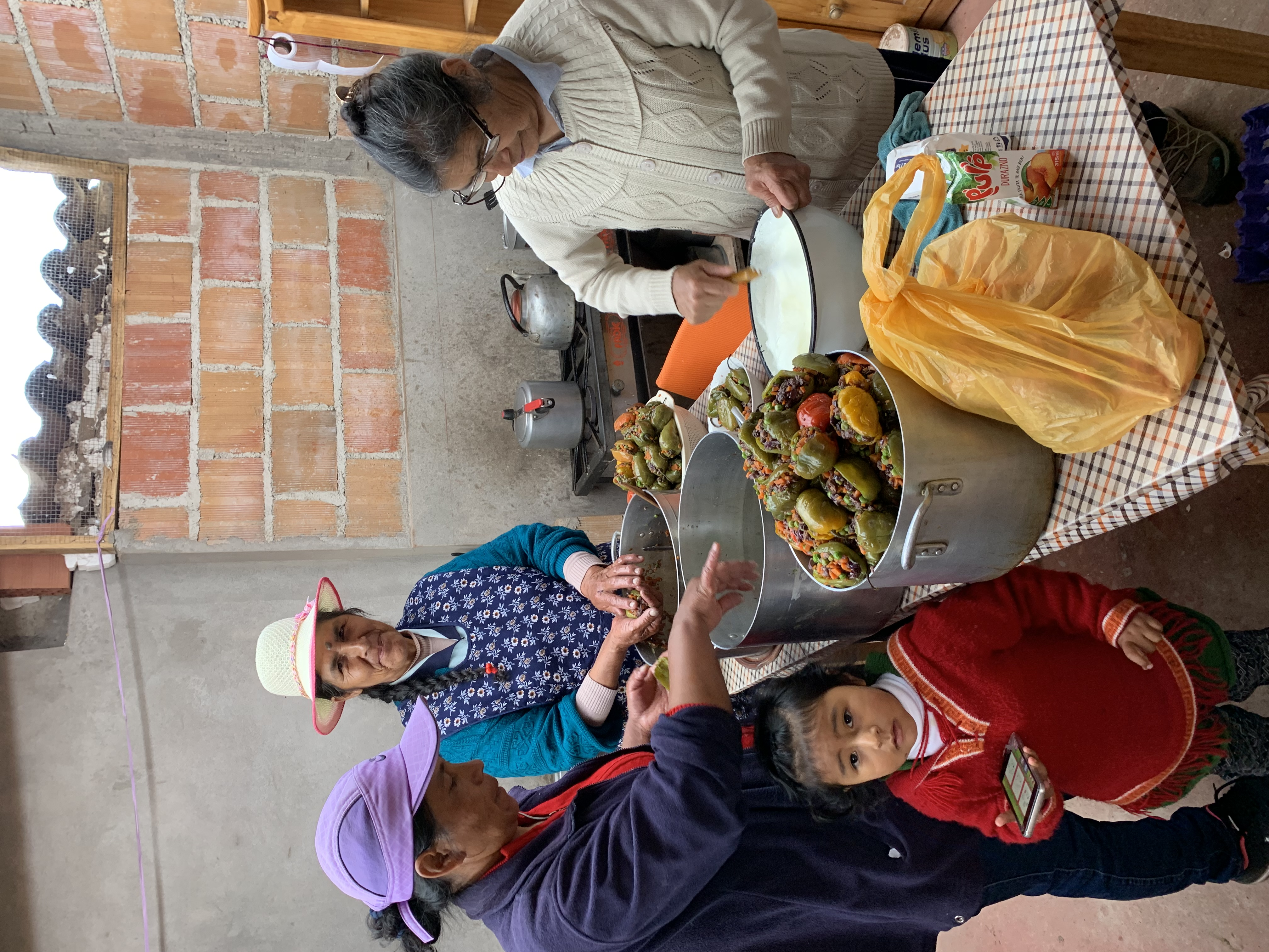 Salkantay Trek local families