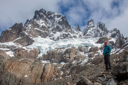 Backpacking the Cerro Castillo with a glacier backdrop